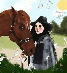 Hijab Drawing, Anime Muslim, Hijab Cartoon, Hijabi Girl, Aesthetic Pastel Wallpaper, Muslim Girls, Diy Art, Hijab Fashion, Art Sketches