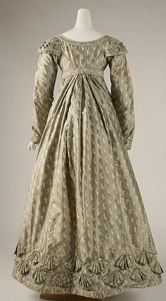 Dress: ca. 1820, British (silk)
