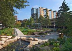 "Abbott Northwestern Hospital's ""Heart of the Mall"" healing garden, Minneapolis, Minnesota."