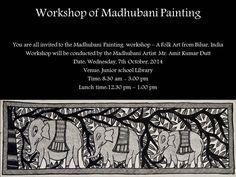 Invitation - Madhubani Painting Workshop