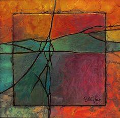 Gemstone 13 13007 by Carol Nelson Acrylic ~ 6 x 6