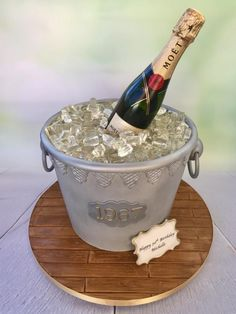 Champagne in an Ice Bucket by Canoodle Cake Company