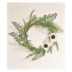 Wreath Wreaths Flower Wreath Spring Wreath Fern Wreath Modern Wreath Felt Flower Wreaths, Felt Flowers, Paper Flowers, Floral Wreaths, Modern Wreath, Floral Hoops, Wedding Wreaths, Wreath Crafts, Summer Wreath