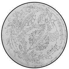 Turkish Design, Turkish Art, Turkish Tiles, Mandala, Illumination Art, Blue And White Vase, Sufi, Tile Art, Painting Patterns
