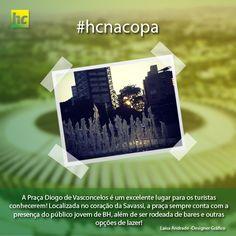 """A designer gráfico Laísa Andrade quer mostrar para os turistas a """"Praça Diogo Vasconcelos"""", a famosa """"Praça da Savassi"""". E você? O que quer mostrar de BH para os turistas?"""