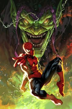 Buy Comics, Marvel Comics Art, Marvel Heroes, Marvel Dc, Comic Books Art, Comic Art, Book Art, Green Goblin, Spider Man