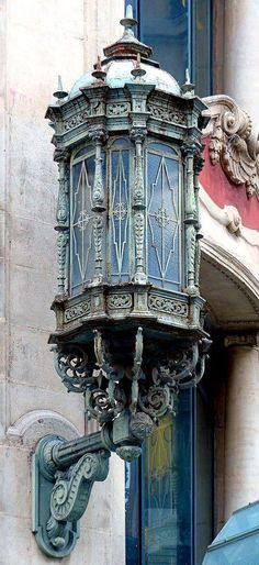 Can Jorba 1926 Architect: Arnald Calvet i Peyronill Art Nouveau, Modernisme, Lantern Lamp, Street Lamp, Gaudi, Chandeliers, Architecture Details, Lamp Light, Light Fixtures