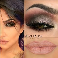 Motives� - Fall Glam Look by Aurora Glez   Vino, sunkissed, bedroom eyes, heavy metal, onyx. Lips moisture rich Silhouette, Rich Formula naked.
