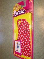 #1361 BARBIE BEST BUY FASHION (c)78 - RARE red & white flower print dress
