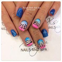 Ombré nails/summer nails