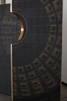ANALOGIA PROJECT Where the rain stops, 2015 Wood, brass, hand painted wallpaper Wallpaper realized in collaboration with Fabscarte Door And Window Design, Door Design, Wall Design, Screen Design, Door Knobs, Door Handles, Hotel Door, Hand Painted Wallpaper, Main Door