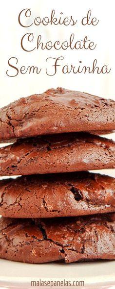 Cookies de Chocolate sem Farinha | Malas e Panelas