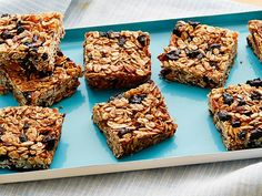On your way out the door, grab one of Alton's homemade bars, which are packed with a filling combo of old-fashioned rolled oats, sunflower seeds and wheat germ. Toss in dark brown sugar and your favorite dried fruit to add a hint of sweetness to your morning commute. Recipe courtesy Alton Brown, 2005