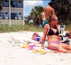 Irish girl sunbathing. No....not that one....the other girl behind her. - baaaaaahahahahahah