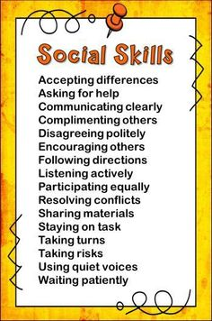 Awesome list of social skills for kids and step-by-step directions for teaching social skill lessons!