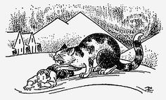 Yule Cat - Icelandic Christmas legends and traditions are marred by horrific creatures, one of them being the cannibalistic Christmas cat.