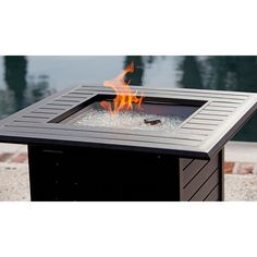 Sedona Cast Aluminum Rectangular Gas Fire Table Sun City