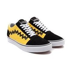 reputable site ea729 4b63f Vans Old Skool Peanuts Charlie Brown Skate Shoe Brown Vans, Brown Shoe,  Painted Vans