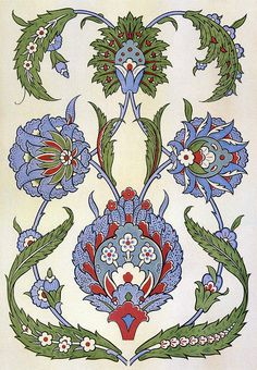 Painted pottery flowers & leaves 17th century by Design Decoration Craft, via Flickr