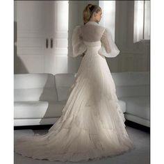 Custom Chiffon A-line Strapless Fall Sleeveless Sashes/Ribbons Natural White Wedding Dresses