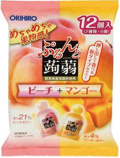 Orihiro Konjac jelly Diet Peach Mango fruits