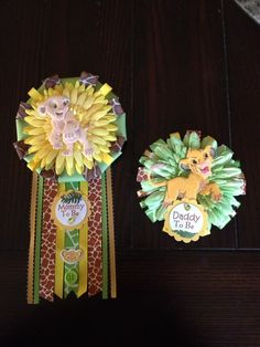 The Original Lion King Mommy And Daddy To Be Corsage Set on Etsy!