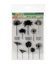 Penny Black Flower Sparks Clear Stamps 5''x6.5''