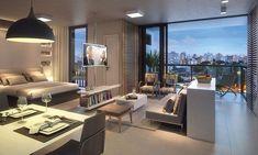 Concepção artística do Apartamento de 47m²