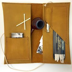 Leather Travel Pipe Kit from Honest Carry Goods. honestcarrygoods.com