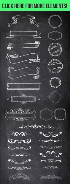 100 Chalk Elements Mega Bundle - Objects - 4