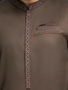-Classic 2 pieces Shalwar Kameez suit -Simple and Amazing -Embroidery on Band -Fancy Kurta Ensemble -Cuff Sleeves -Soft Pima Cotton African Wear Styles For Men, African Shirts For Men, African Dresses Men, African Clothing For Men, African Style, Gents Kurta Design, Boys Kurta Design, Mens Shalwar Kameez, Kurta Men