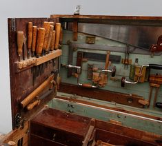 Fact: This Early Century Swedish Tool Chest is Super Cool Power Tool Storage, Power Tools, Wooden Tool Boxes, Tool Rack, Shop Storage, Popular Woodworking, Fine Woodworking, Wood Tools, Woodworking Magazine