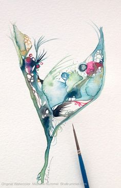Needing, wanting, missing… Original Watercolor ©Michelle Rummel