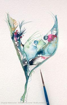 Needing, wanting, missing… Original Watercolor ©Michelle Rummel