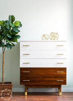 Mid Century Furniture Makeover | Fusion Mineral Paint Casement | Lost & Found