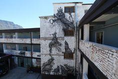 "DALeast ""Moon Hallucinogen"" New Mural In Cape Town, South Africa StreetArtNews"