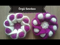 This Pin was discovered by muk Crochet Crocodile Stitch, Crochet Shell Stitch, Crochet Motif, Crochet Doilies, Crochet Basket Pattern, Crochet Flower Patterns, Crochet Patterns For Beginners, Crochet Flowers, Knitting Videos
