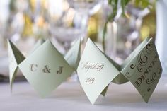 Found on: Oh Lovely Day (http://www.oh-lovely-day.com/2010/04/100th-post-cootie-catcher-menus.html) - Pinterested @ http://wedspiration.com.