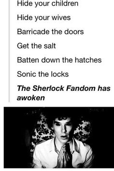 The Sherlock Fandom has awoken