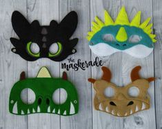 Toothless Stormfly Mask Dress up mask How to Train by MTBrownBear