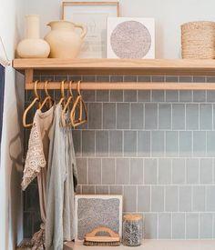 Laundry Decor, Laundry Room Storage, Laundry Room Design, Laundry In Bathroom, Laundry Powder, Master Bathroom, Small Laundry, Small Bathroom, Compact Laundry