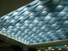China Commercial Projects of Aluminum Curve Ceiling, Find details about China Aluminum False Ceiling, False Ceiling from Commercial Projects of Aluminum Curve Ceiling - Guangzhou Auspoll Metalwork Co. Baffle Ceiling, Ceiling Plan, Home Ceiling, Ceiling Canopy, Ceiling Decor, Ceiling Design, Ceiling Lights, Modern Tropical House, Apartment Lighting