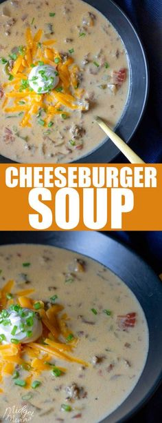 Low Carb Meals This cheeseburger soup recipe has all the flavors of amazing cheeseburger in a delicious soup the whole family will love! This cheeseburger Soup is a low carb and keto friendly soup that everyone will enjoy! Instapot Soup Recipes, Low Carb Soup Recipes, Cheese Burger Soup Recipes, Ketogenic Recipes, Diet Recipes, Cooking Recipes, Healthy Recipes, Low Carb Soups, Ketogenic Diet