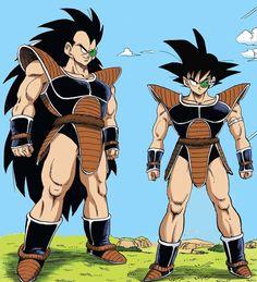 Kakarot and Raditz Dragon Ball Z, Dragon Ball Image, Akira, Mighty Power Rangers, Goku Manga, Dbz Characters, Fanart, Z Arts, Character Design