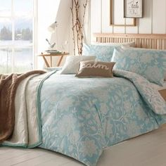 Home Collection Light blue 'Folk' floral brushed cotton bedding set- at Debenhams Mobile