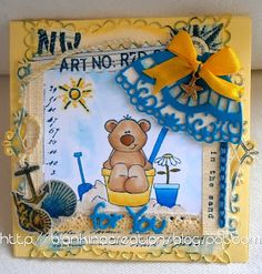 Blankina creations: Sotto l'ombrellone Marianne Design Diva's DT card