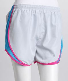 Take a look at this Silver & Turquoise Stay Dry Shorts by 90 Degrees Yoga Wear on #zulily today!