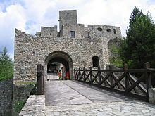 The Strečno Castle (Slovak: Strečniansky hrad) is a Gothic castle in northern Slovakia, 7 km east of Žilina.