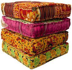 Sari Box Pillows - Buy Large Pillows & Floor Cushion Seating Online ...