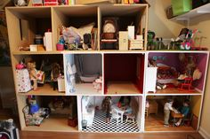 my American girl doll house under construction